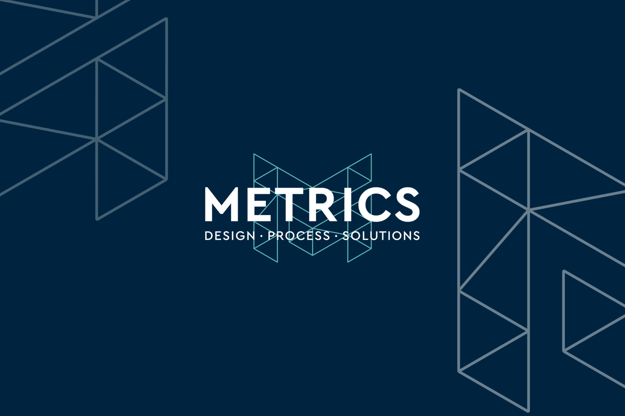 Metrics Design Logo on Blue